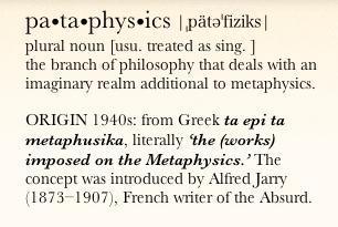 pataphysics