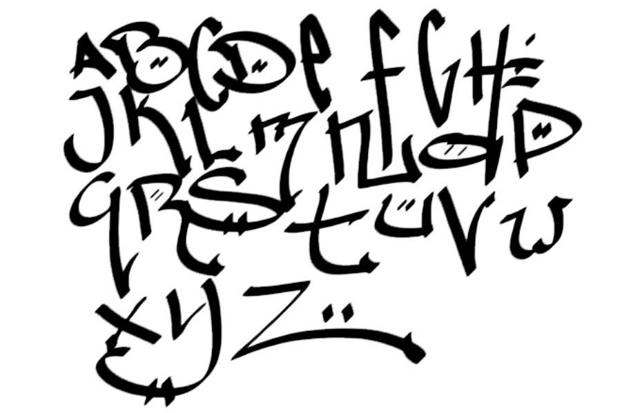 The gallery for --> Graffiti Fonts Wildstyle Abc
