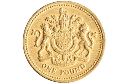 UK one pound coin