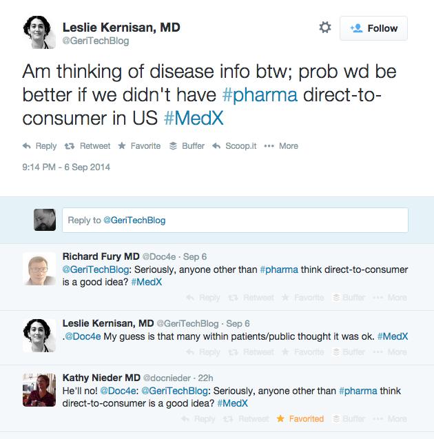 The New Pharma -- backchannel conversation